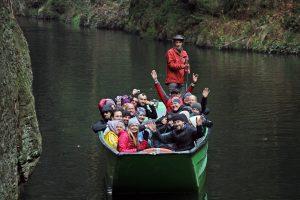 Czeska Szwajcaria - Trytonki w łódce.